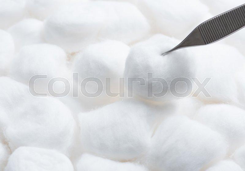Cotton ball texture of a kind originally made from raw cotton and pliers,Cotton ball texture, stock photo
