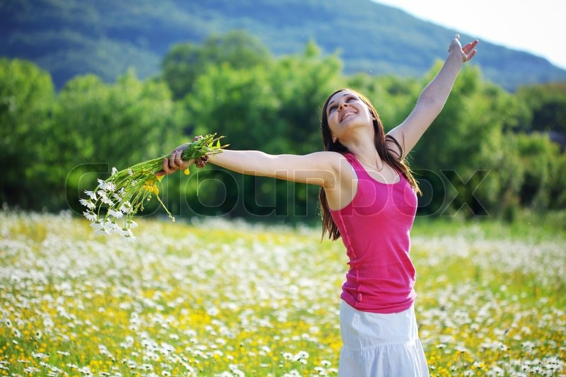 Image result for spinning in a field of flowers