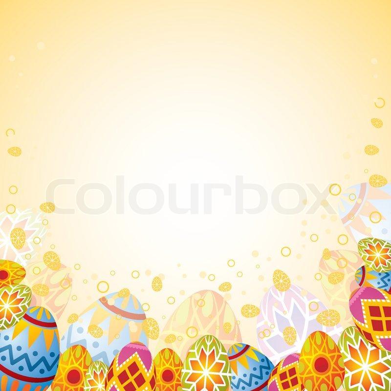 Easter frame with eggs, element for design, vector illustration ...