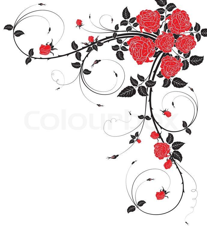 frame design flower. flower frame with rose, element for design, vector illustration, design