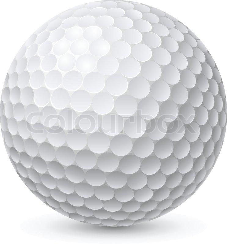 Golf Ball Illustration On White Stock Vector Colourbox