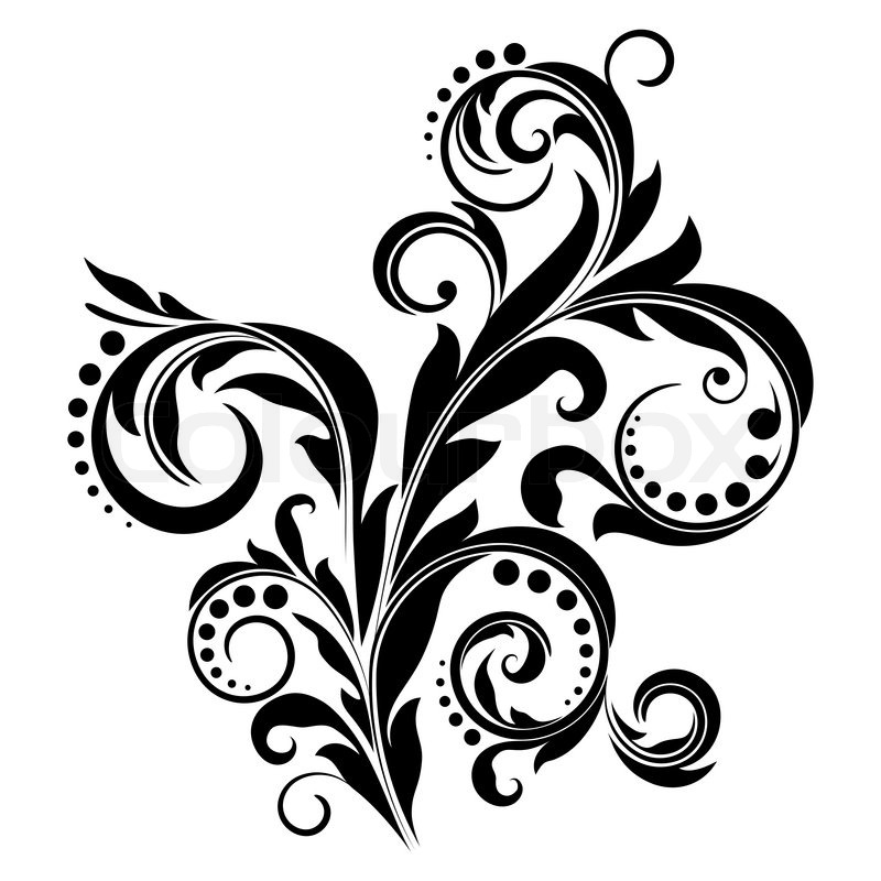 Black design element on a white background vector colourbox - Any design using black and white ...