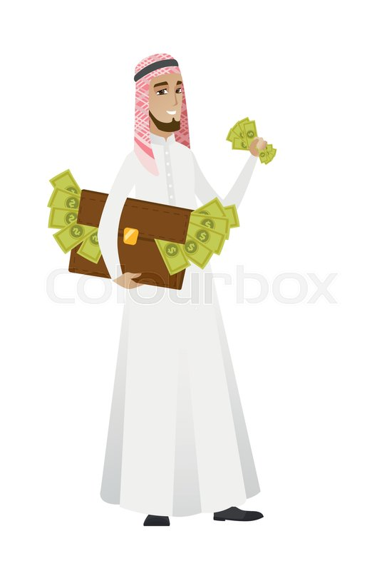 Muslim businessman standing with     | Stock vector | Colourbox