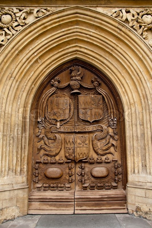 The carved wooden door at the entrance to bath abbey city of bath somersetuk | Stock Photo | Colourbox & The carved wooden door at the entrance to bath abbey city of bath ...