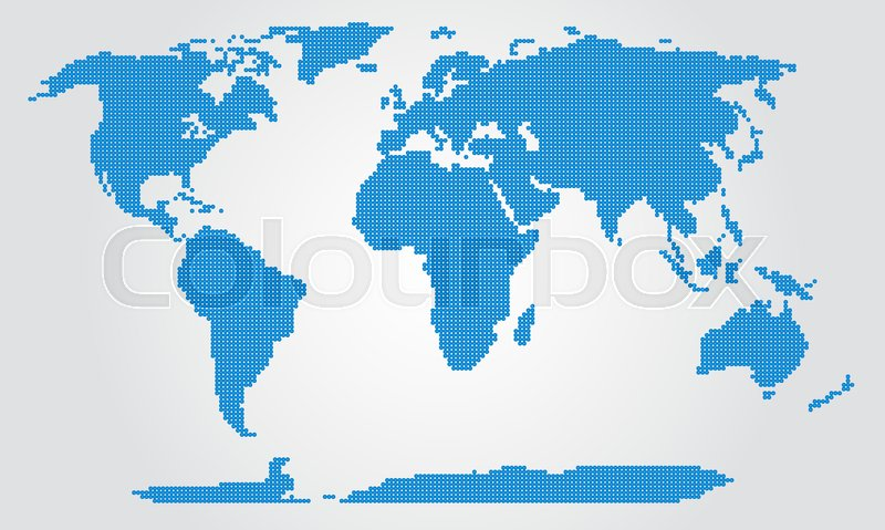 Dotted map world map dotted world dotted planet dotted earth stock vector of dotted map world map dotted world dotted planet gumiabroncs Images