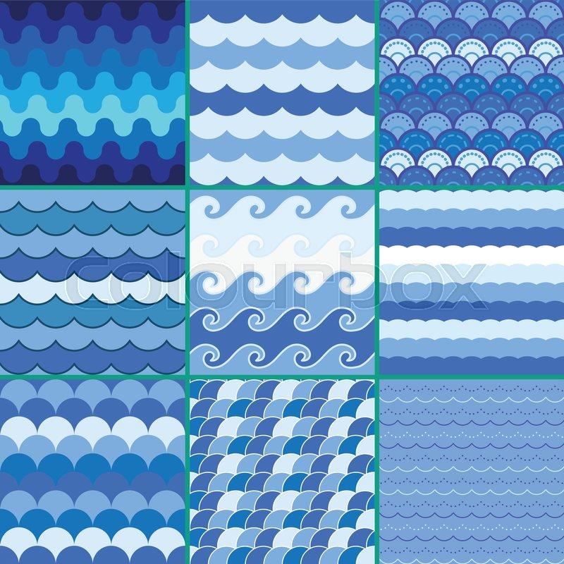 Sea Waves Pattern Sea Pattern Summer Pattern Wave Pattern Blue Enchanting Wave Pattern