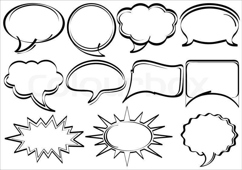 Comic Book Action Bubbles Speech Bubbles Comic Book