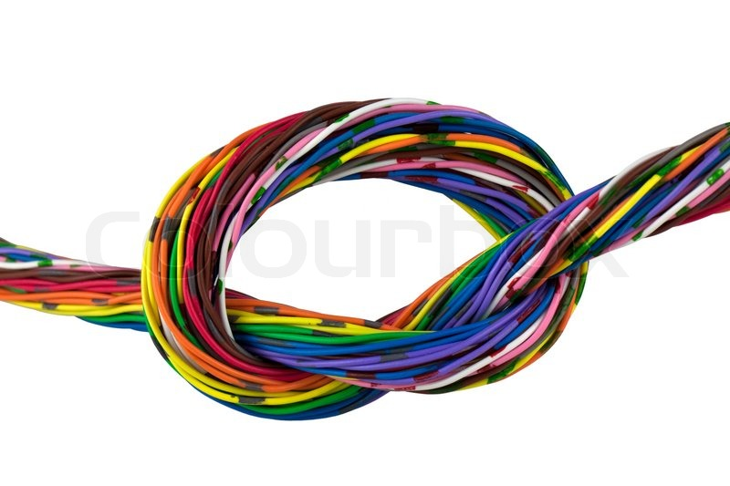 Color wires isolated on white | Stock Photo | Colourbox