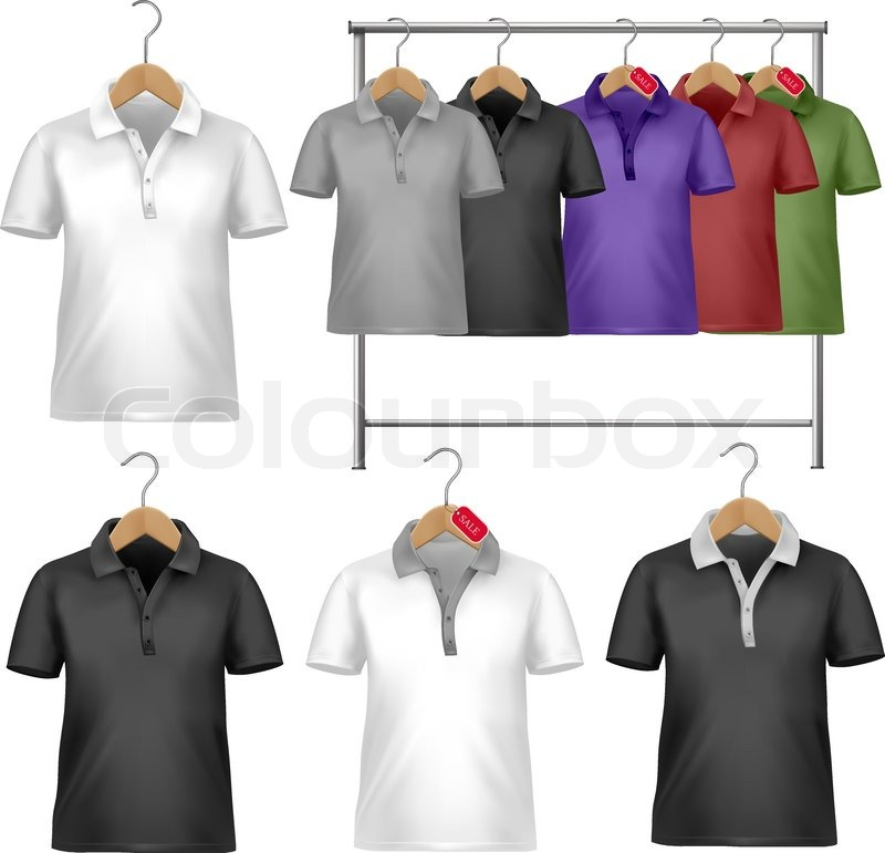 Polo shirt template black