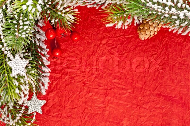 Christmas Frame From Branch And Stock Image Colourbox