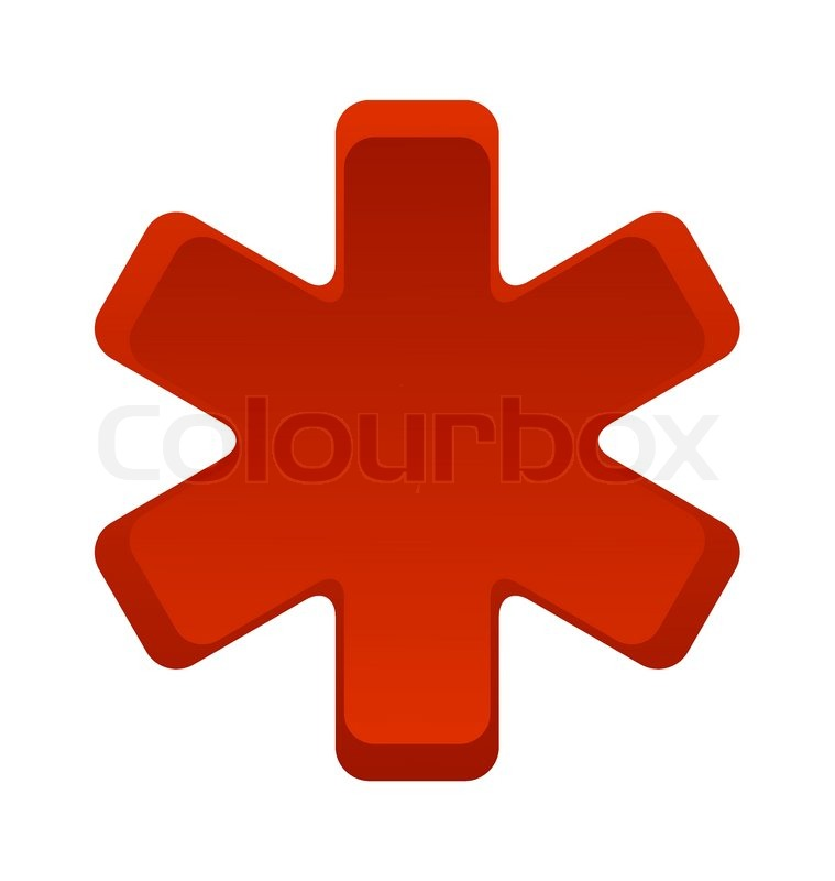 Krankenhaus Sanitäter Symbol rot Vektor isoliert | Vektorgrafik ... | {Sanitäter symbol 9}