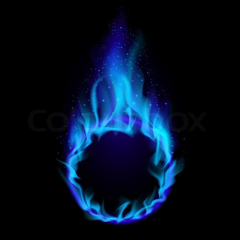 Blue Ring Of Fire. Illustration On Black Background For Design | Stock  Vector | Colourbox