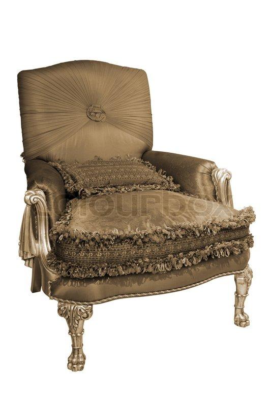 sch ne und modische sessel auf einem wei en hintergrund stockfoto colourbox. Black Bedroom Furniture Sets. Home Design Ideas