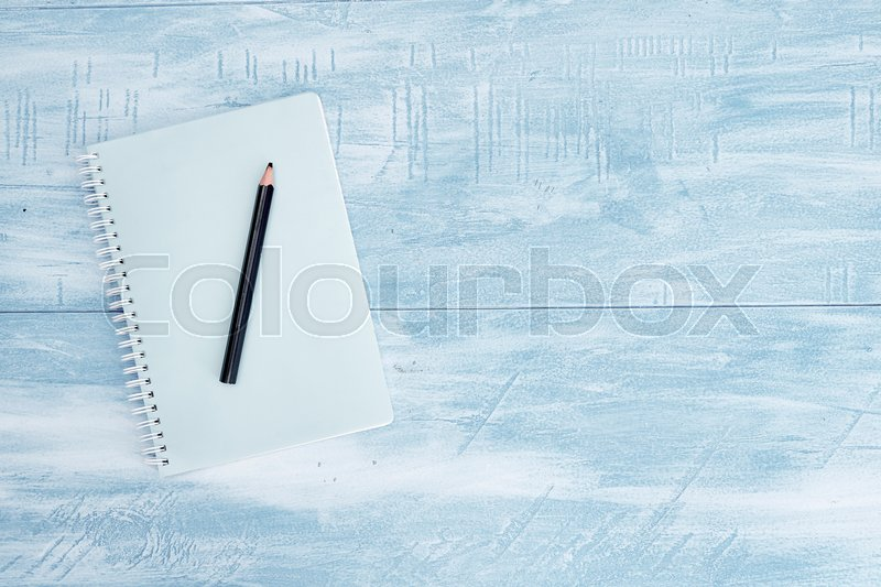 A studio shot of a notebook writing pad, stock photo