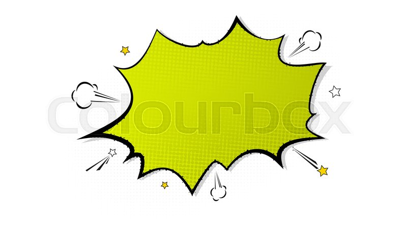 Pop art splash background, explosion in comics book style, blank ...