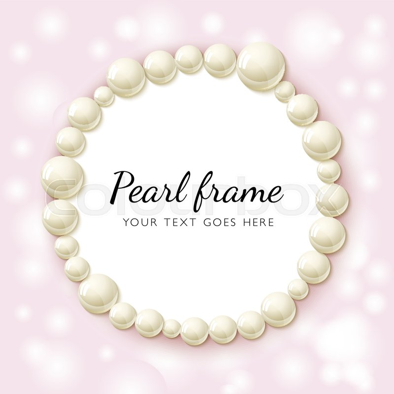 rearls realistic vector illustration of shiny pearl necklace on