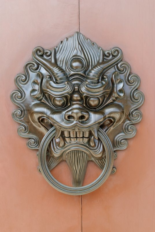 Chinese Lion Door Knob Stock Photo Colourbox
