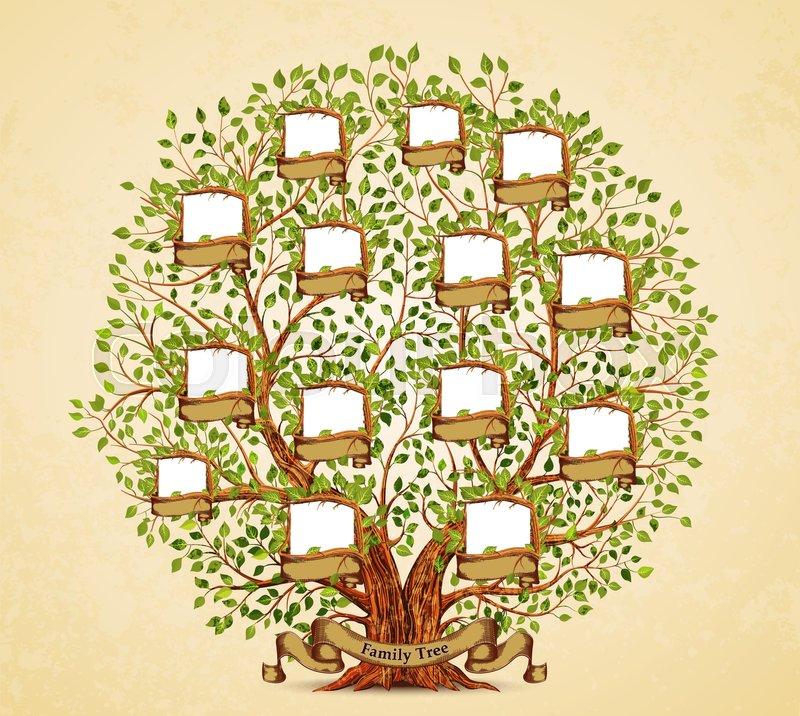 Family Tree Vector Clipart Vector Illustration
