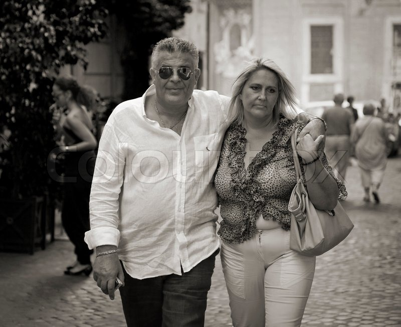 Couple Mature mature roman couple, rome, italy - september 29, 2011: unidentified