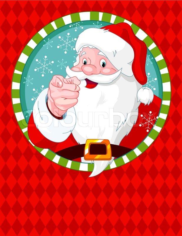 Santa claus pointing greeting card stock vector colourbox m4hsunfo