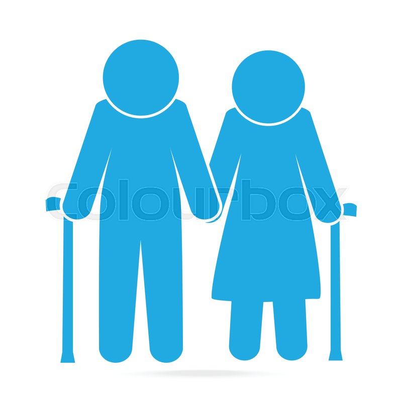 Elderly Symbol Old People Blue Icon Stock Vector Colourbox Lovepik provides 43000+ human icon photos in hd resolution that updates everyday, you can free download for both personal and commerical use. elderly symbol old people blue icon