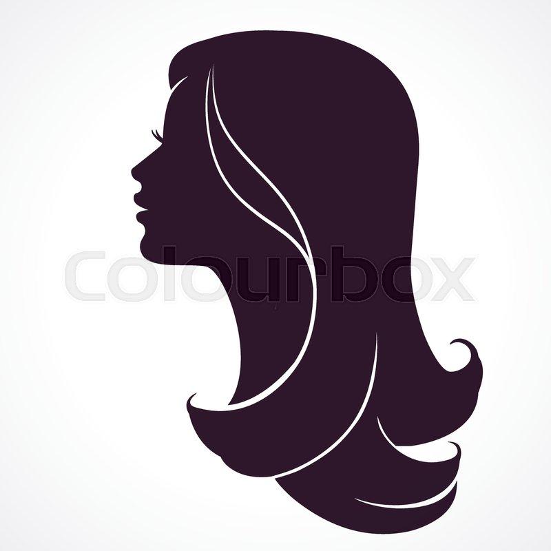 Woman Face Profile Female Head Stock Vector Colourbox
