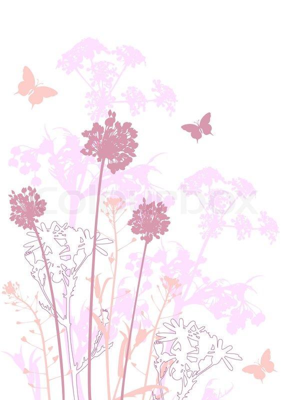 floral background mit rosa blumen vektorgrafik colourbox. Black Bedroom Furniture Sets. Home Design Ideas