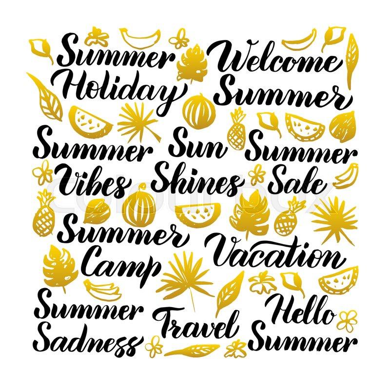Sommer Tidsrum Citat Stock Vektor Colourbox