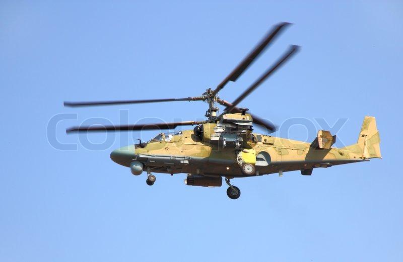Elicottero Ka 52 : Russian helicopter ka alligator stock photo colourbox