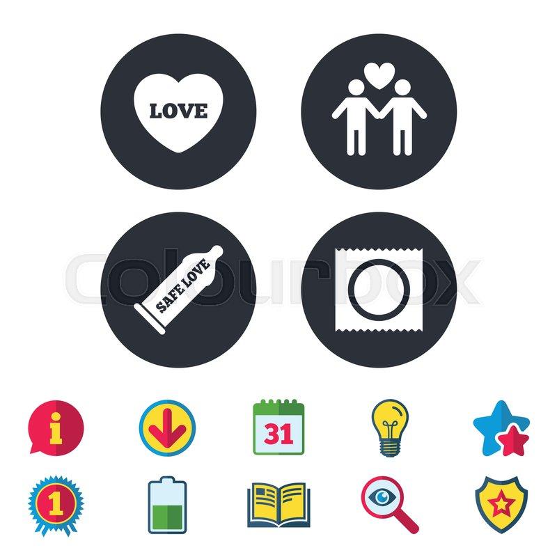 Safe Sex Icon Images, Stock Photos Vectors