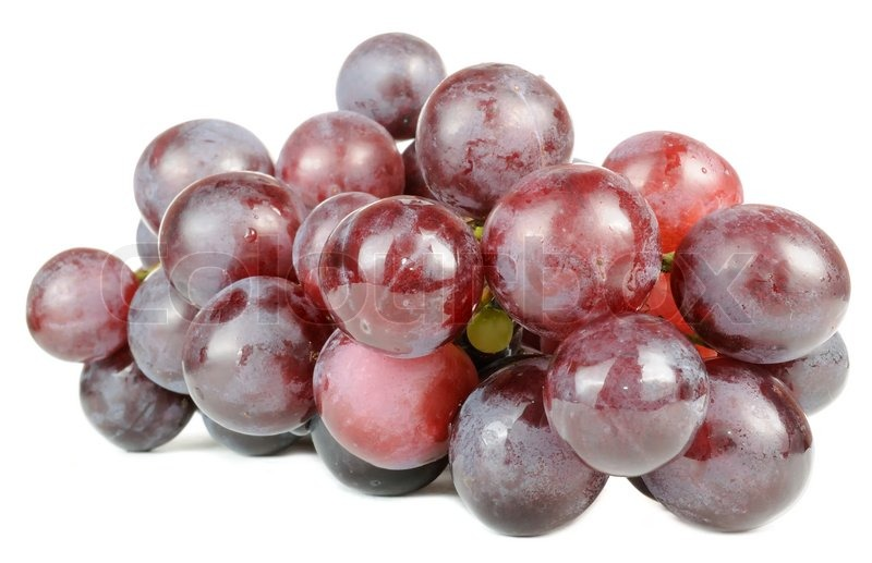 Image of 'Purple Grapes Isolated on White Background'