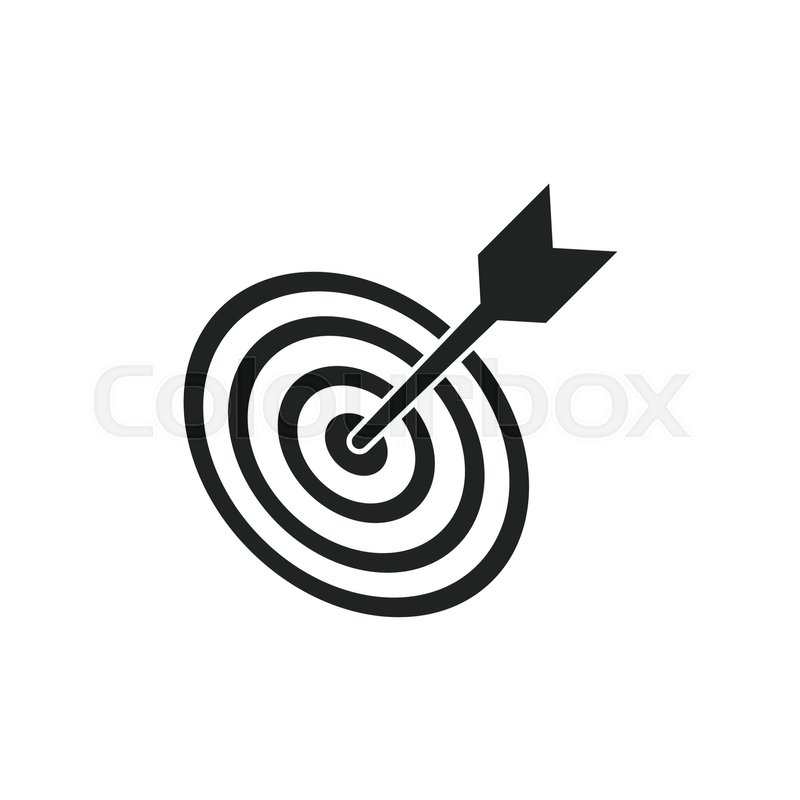 Target Aim Flat Vector Icon Darts Stock Vector Colourbox