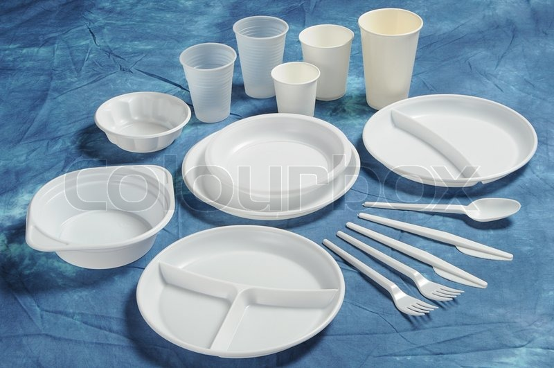 Varieties of disposable plates cups and cutlery | Stock Photo | Colourbox & Varieties of disposable plates cups and cutlery | Stock Photo ...