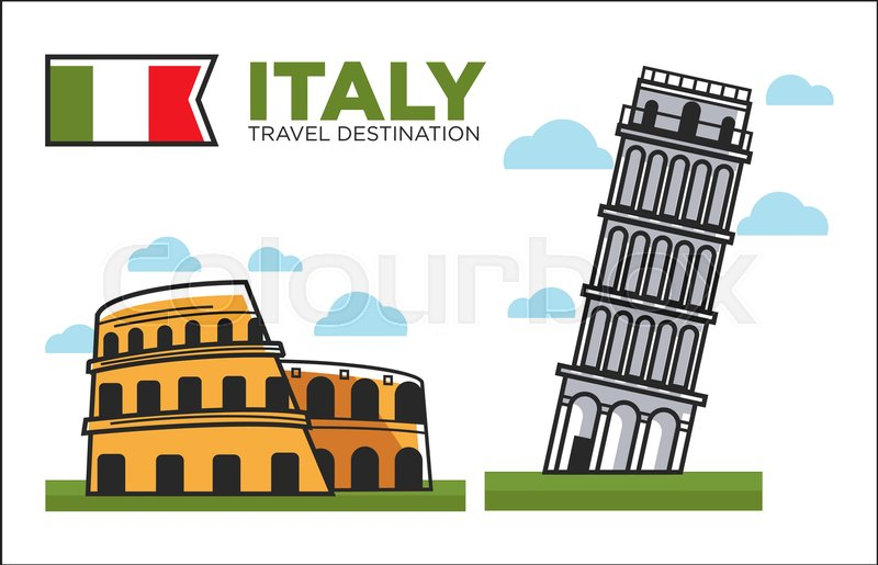 Italy Famous Symbols Travel And Culture For Travel Famous Landmarks