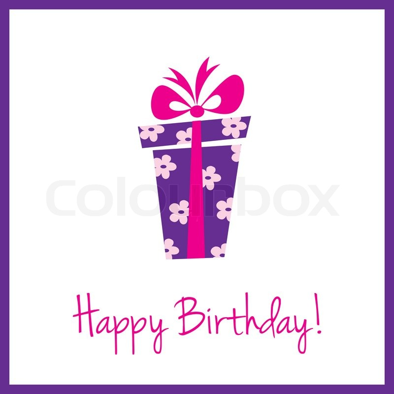 A cute birthday card with gift box Photo – Birthday Card Gift
