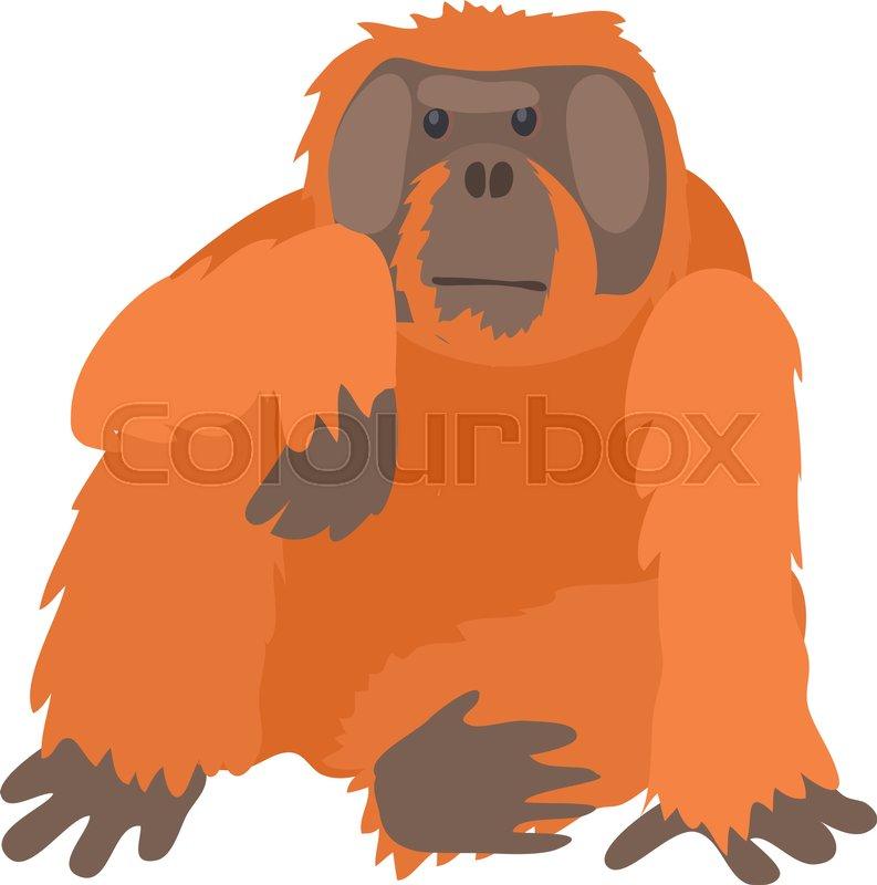 Orangutan Cartoon Orangutan icon. Cartoo...