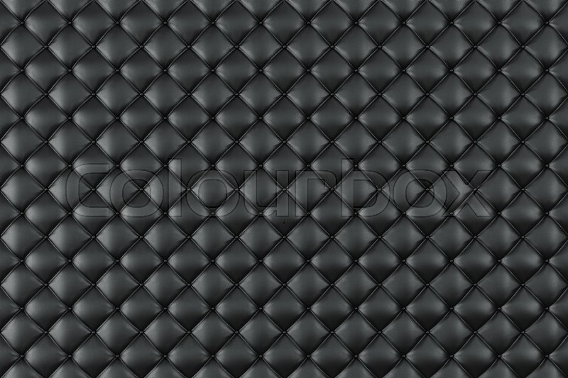 Leather Upholstery Sofa Background Black Luxury Decoration Elegant Texture With Buttons