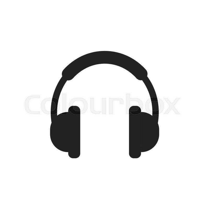 headphone vector icon earphone headset sign illustration stock rh colourbox com headphone vector image headphone vector file