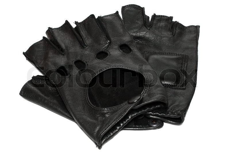 læderhandsker med huller