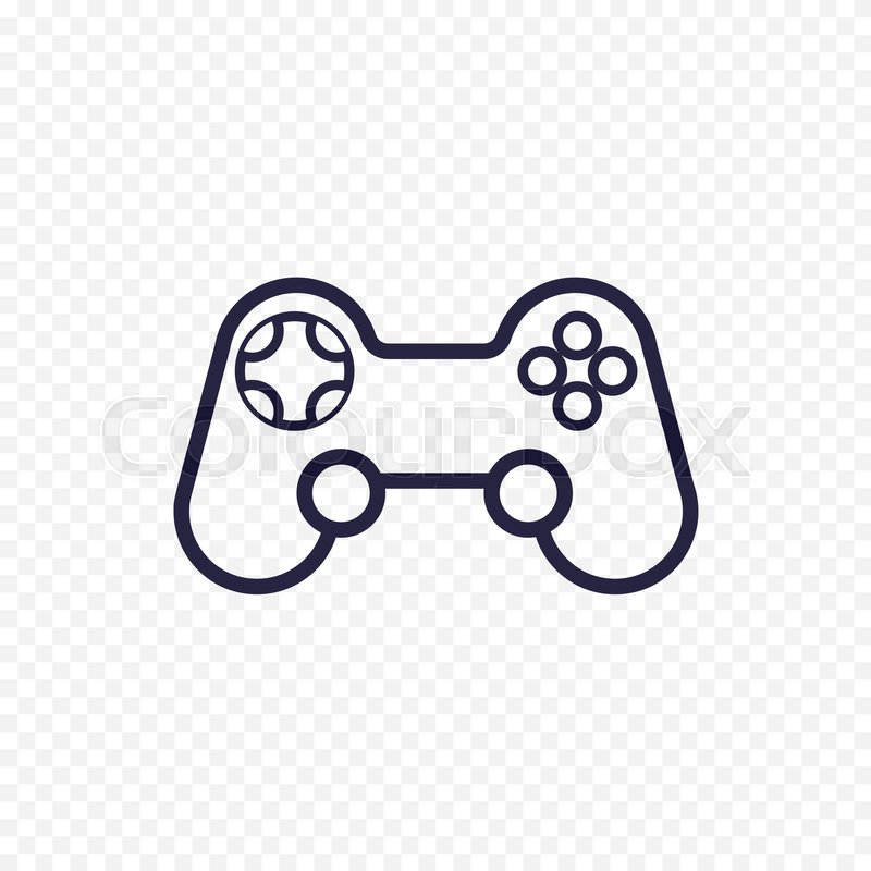 Game Controller Line Icon Gamepad Thin Linear Signs For Video - Game outline