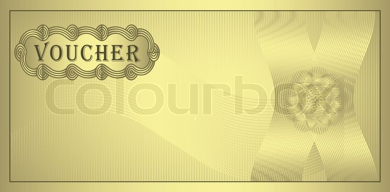 Voucher Gold Guilloche Coupon Certificate Template Security