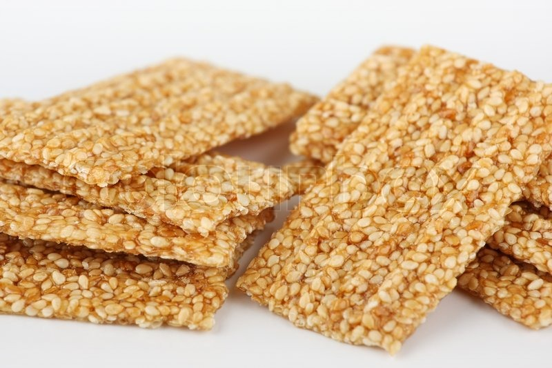 Brittle sesame and caramel candy | Stock Photo | Colourbox