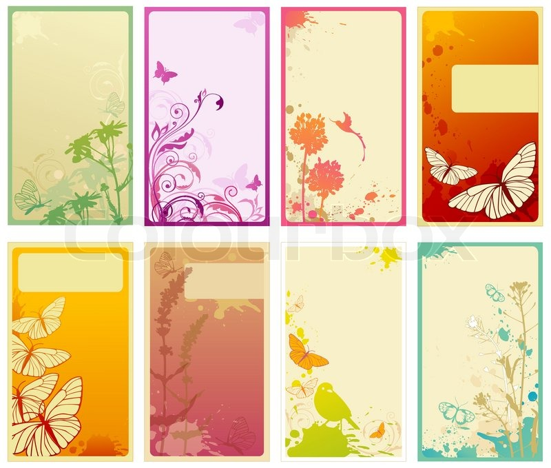 Set of vertical business cards stock vector colourbox reheart Images