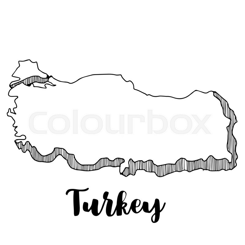 Hand drawn of Turkey map, vector ... | Stock vector | Colourbox