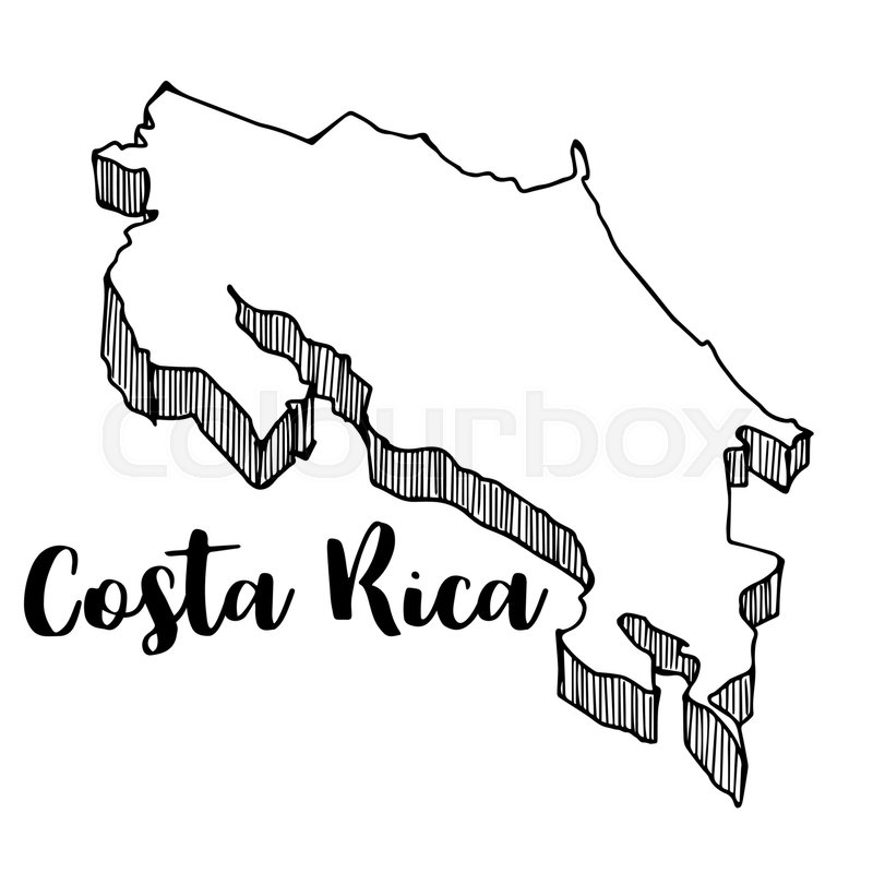 Hand drawn of Costa Rica map, vector ... | Stock vector ... on drawing of india map, drawing of americas map, drawing of ireland map, drawing of england map, drawing of spain map, drawing of brazil map, drawing of trinidad map, drawing of united states map, drawing of nigeria map, drawing of japan map, drawing of indonesia map, drawing of malaysia map, drawing of norway map, drawing of sudan map, drawing of morocco map, drawing of usa map, drawing of jamaica map, drawing of middle east map, drawing of mexico map, drawing of china map,