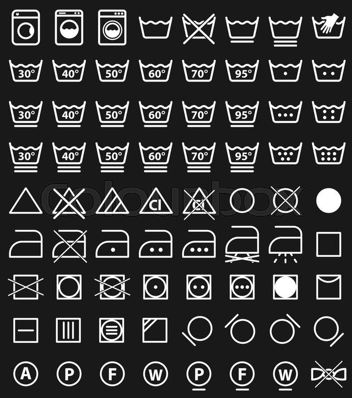 Laundry care symbols, washing icons       Stock vector