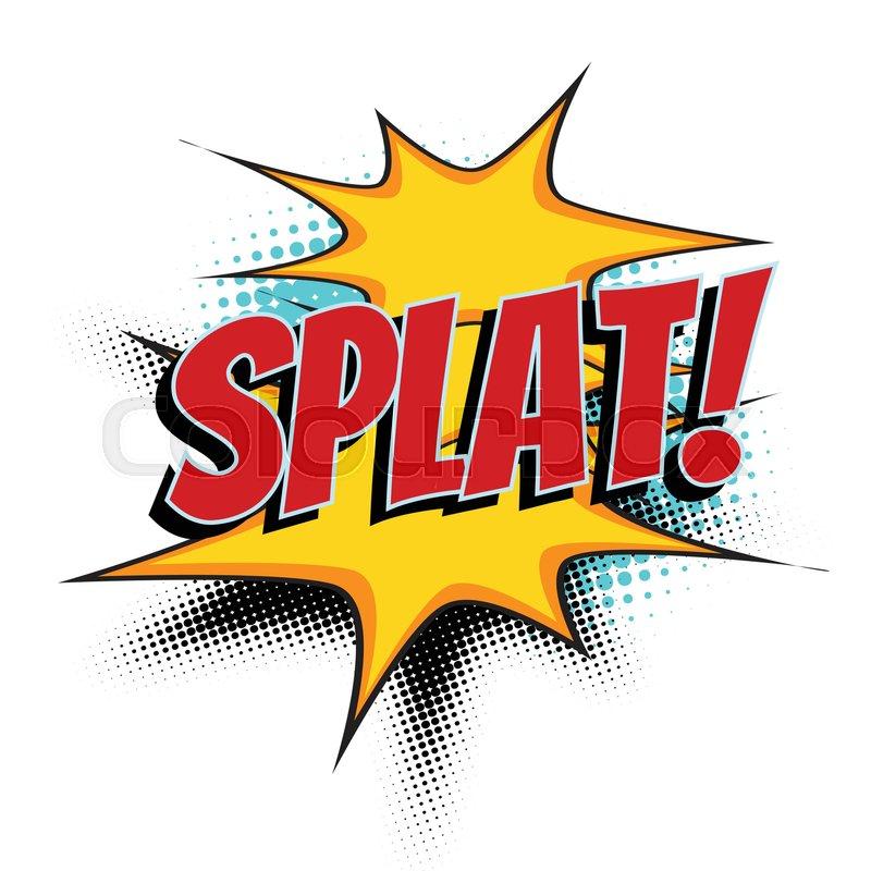 splat comic word pop art retro vector illustration
