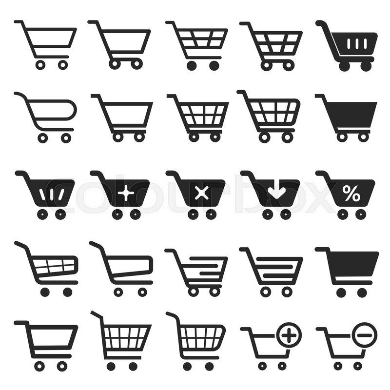 shopping cart icon set shopping cart icon shopping cart business