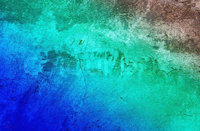 Beeindruckende Grau Turkis Wand Als Stockfoto Colourbox