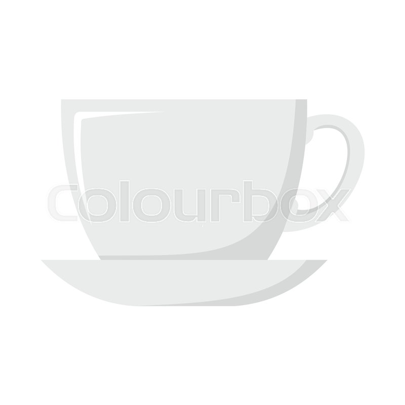 cup dish cartoon icon. kitchen tool, cookware and kitchenware